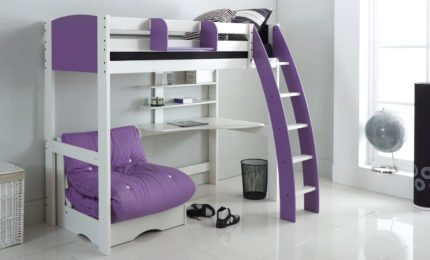 High sleeper beds kids beds loft beds scallywag kids made in uk - Schneidermans furniture seating units and bunk beds ...