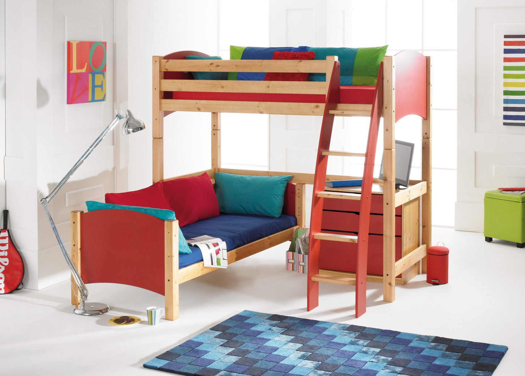 Picture of: High Sleeper Bunk Bed With Furniture Options Scallywag Kids