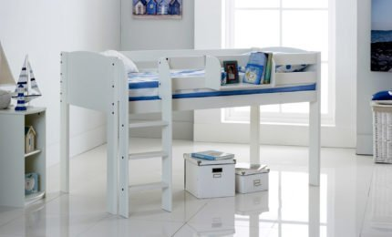 Mid Sleeper White Cabin Bed