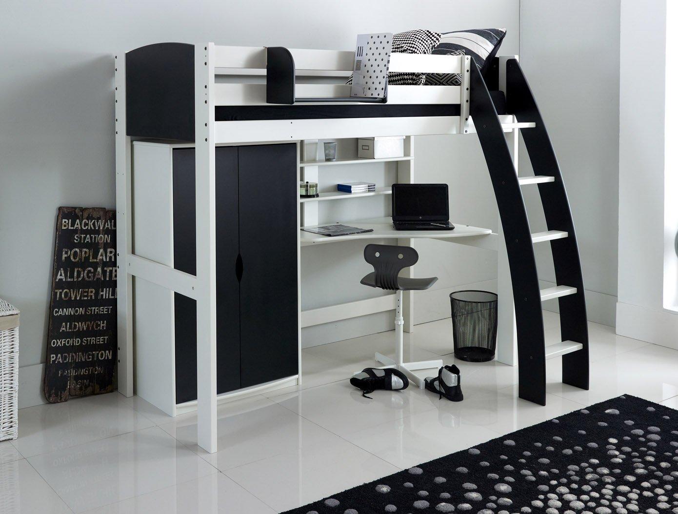 High Sleeper Bed Wardrobe Desk