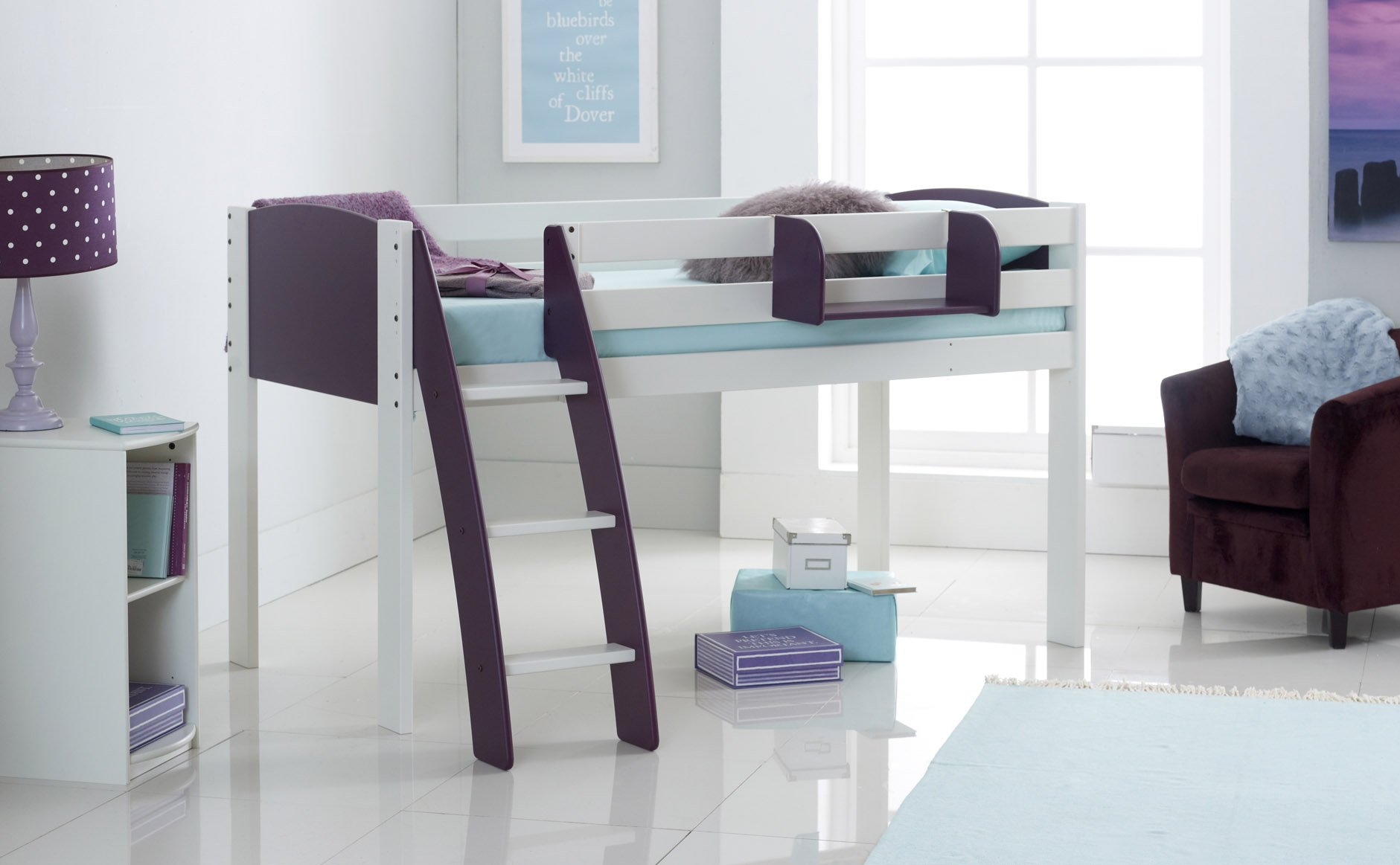Midsleeper Cabin Bed With Curved Ladder Scallywag Kids