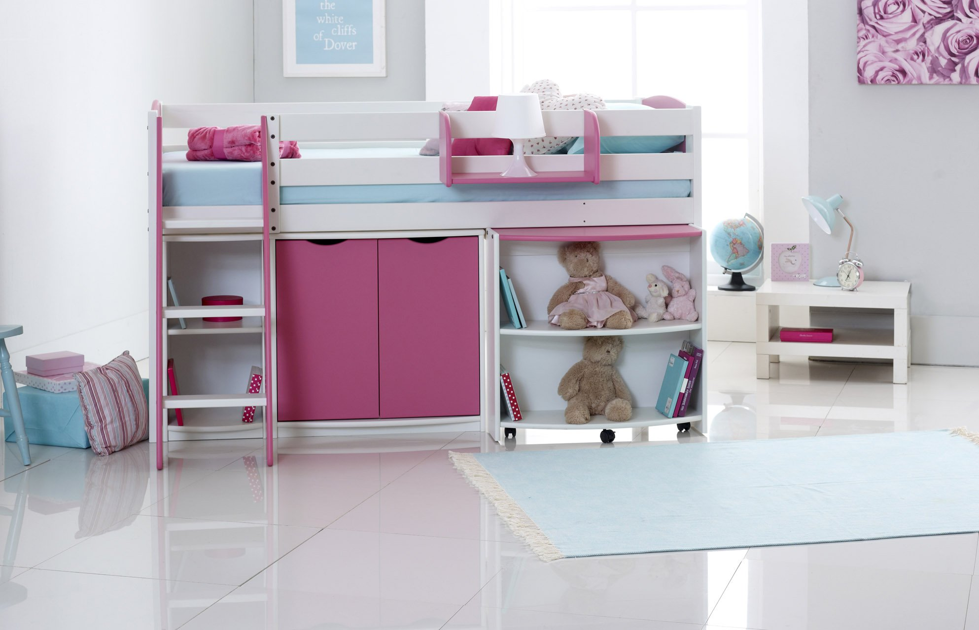 Scallywag Kids Exclusive Mid Sleeper Cabin Bed With Pull