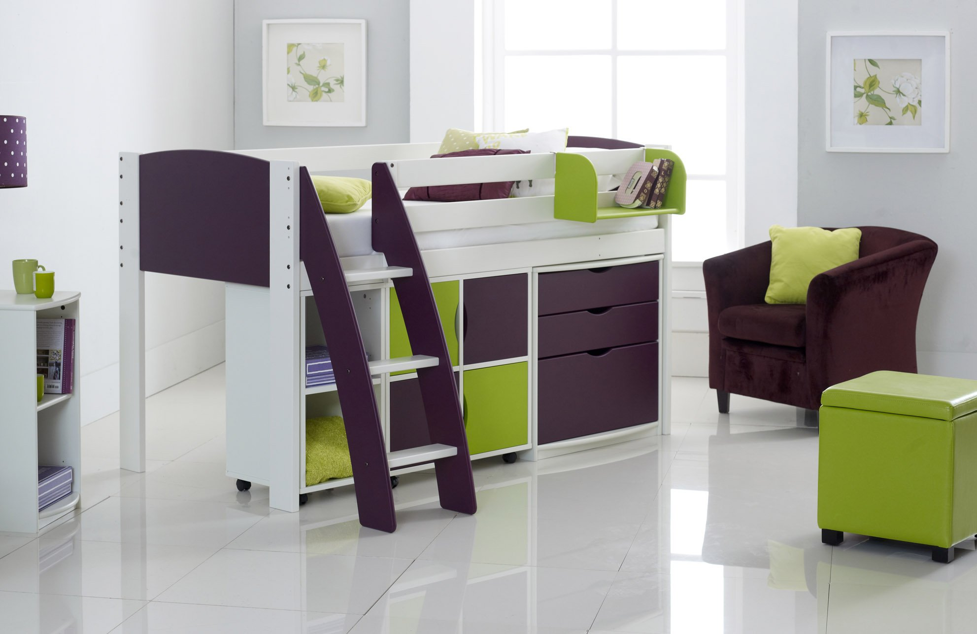 Mid Height Beds Mid Sleeper Cabin Bed Kids Beds Scallywag Kids - Scallywags bedroom furniture