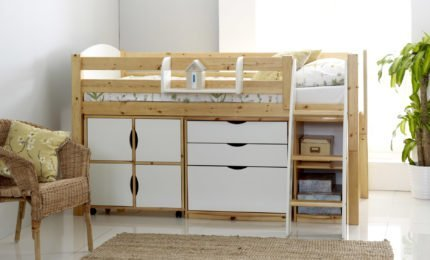 Cabin Beds Mid Sleeper Beds With Desks Drawers Scallywag Kids