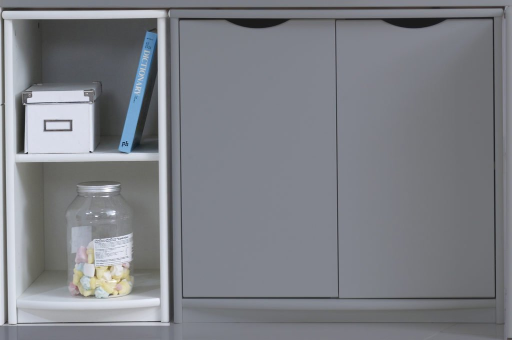 Narrow Shelf Unit (shown in white)