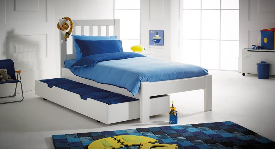 Princeton Bed Including Tuckaway Trundle Sleepover Bed Futon - Scallywags bedroom furniture