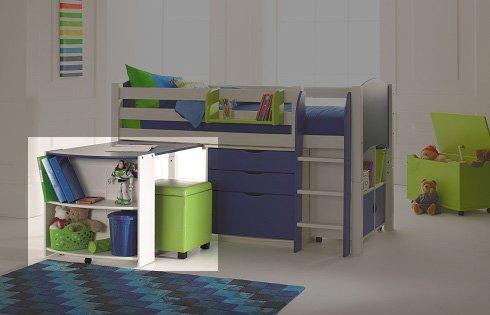 Pull Out Desk Shelf Unit