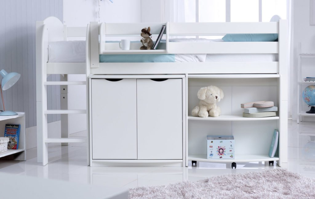 Child S Midsleeper Cabin Bed With Desk Amp Cupboard