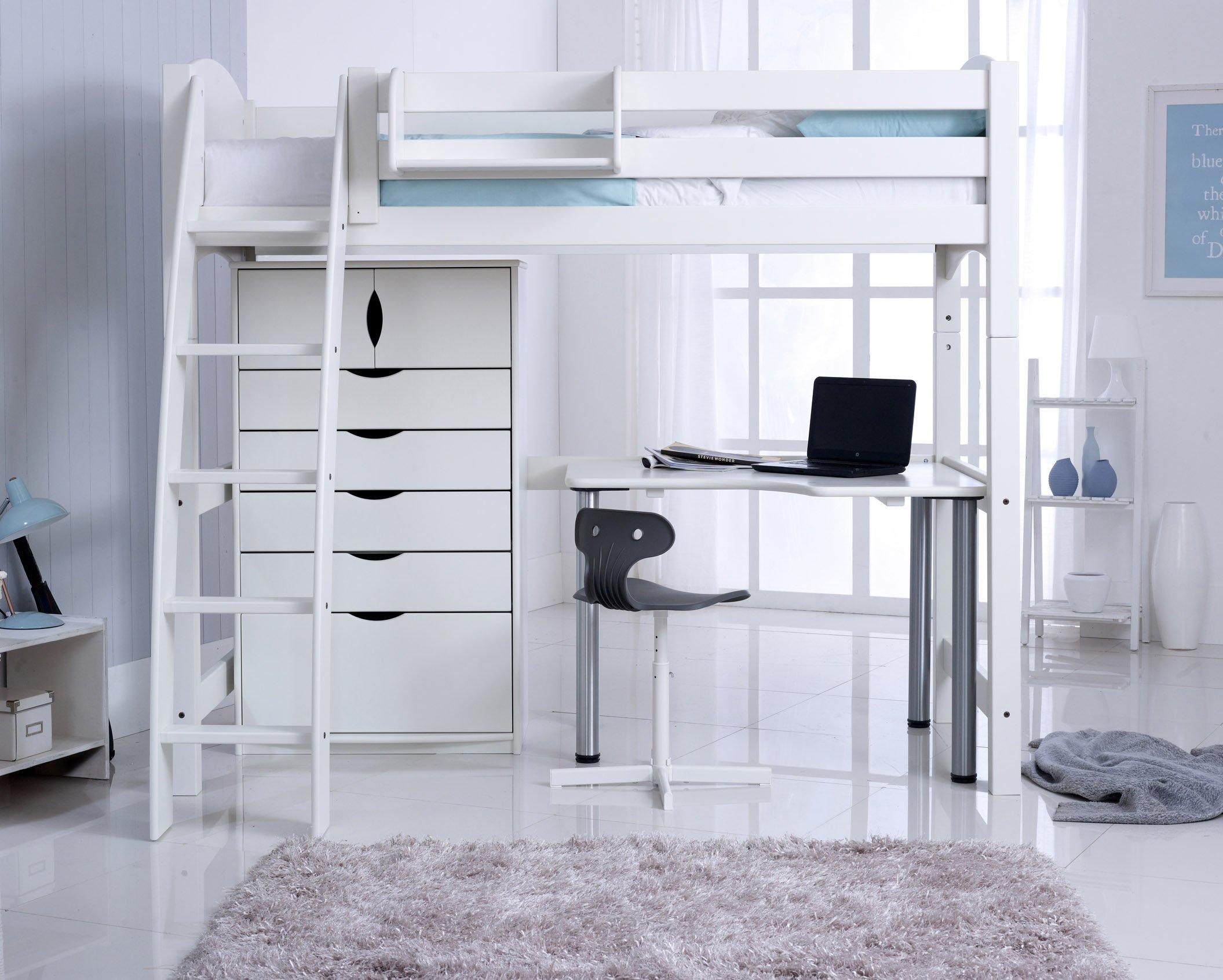 Scallywag High Sleeper with Desk & Chest
