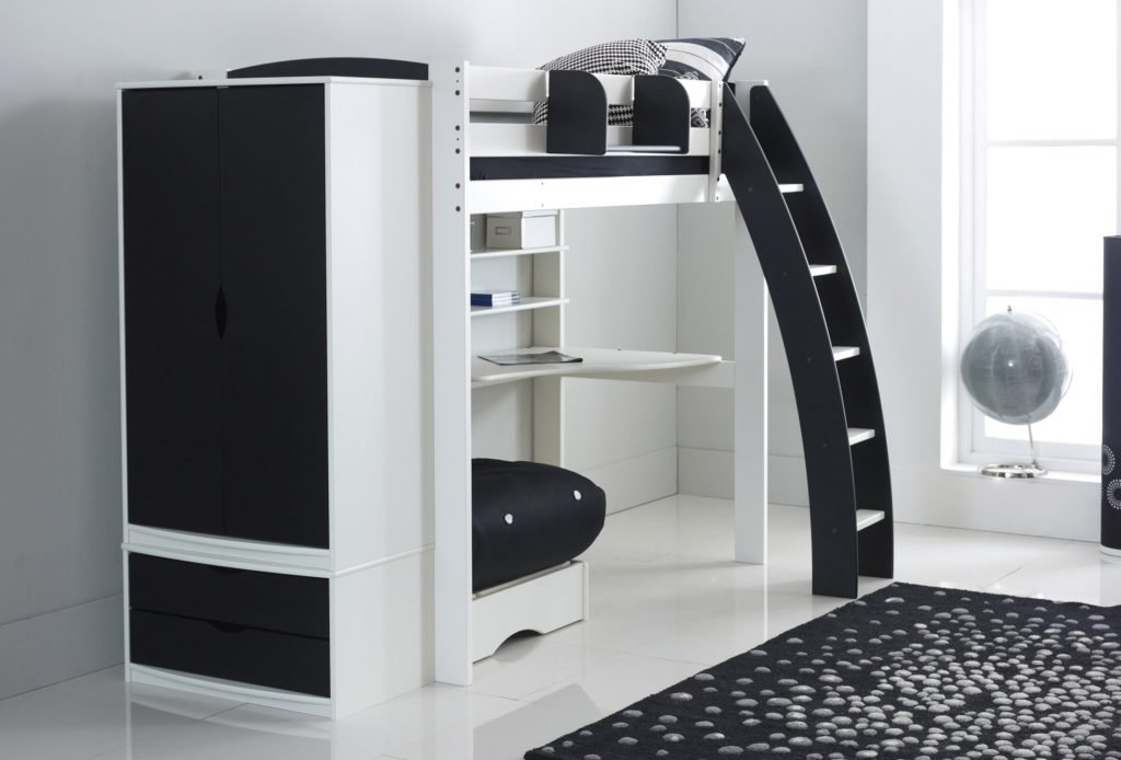 High Sleeper Bed with Wardrobe