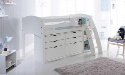 Convertible Cabin Bed with 2 x 3 Drawer Chest Units & Cupboard Unit