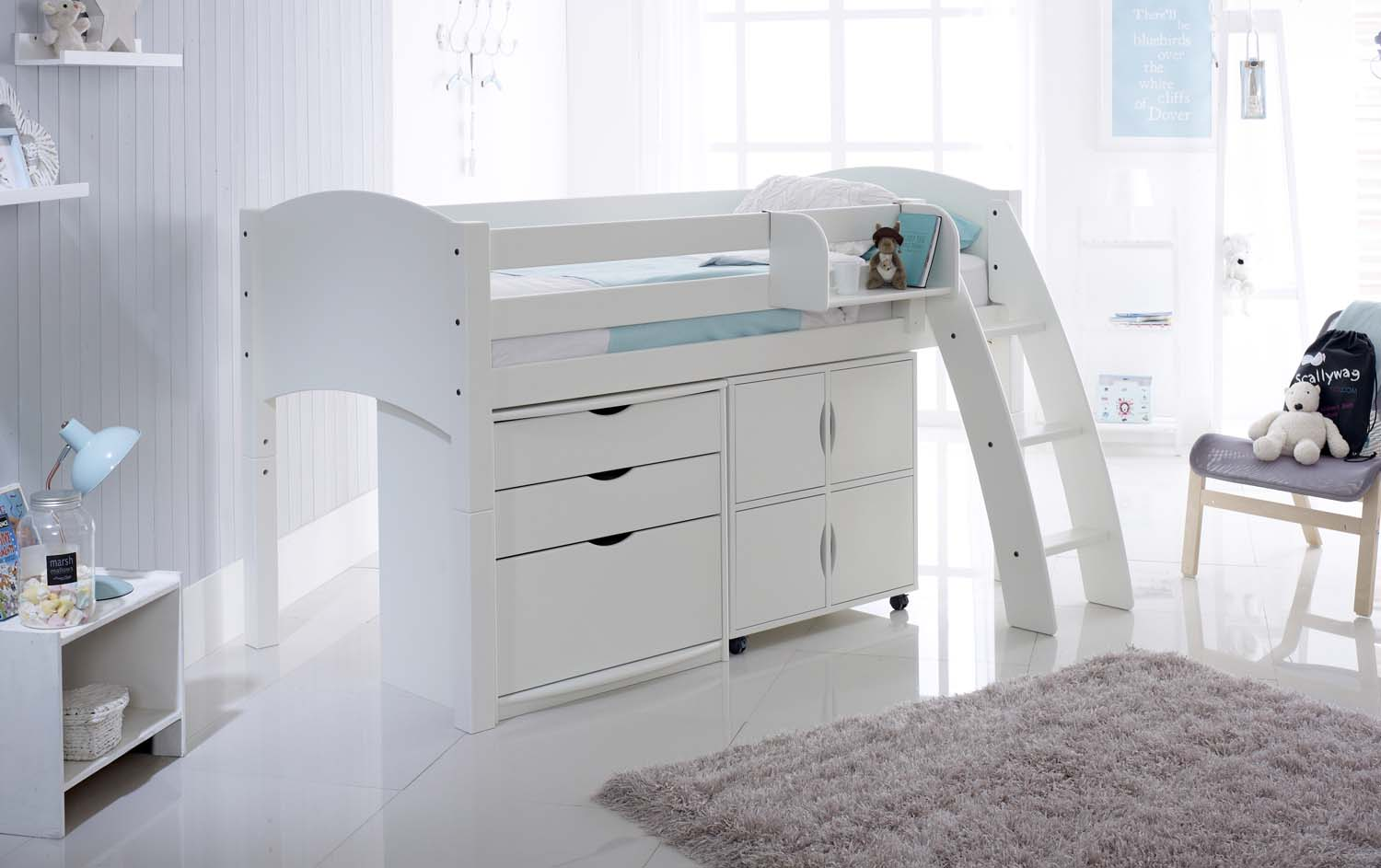 Cabin Bed With Drawers And Quad Storage Unit Scallywag Kids