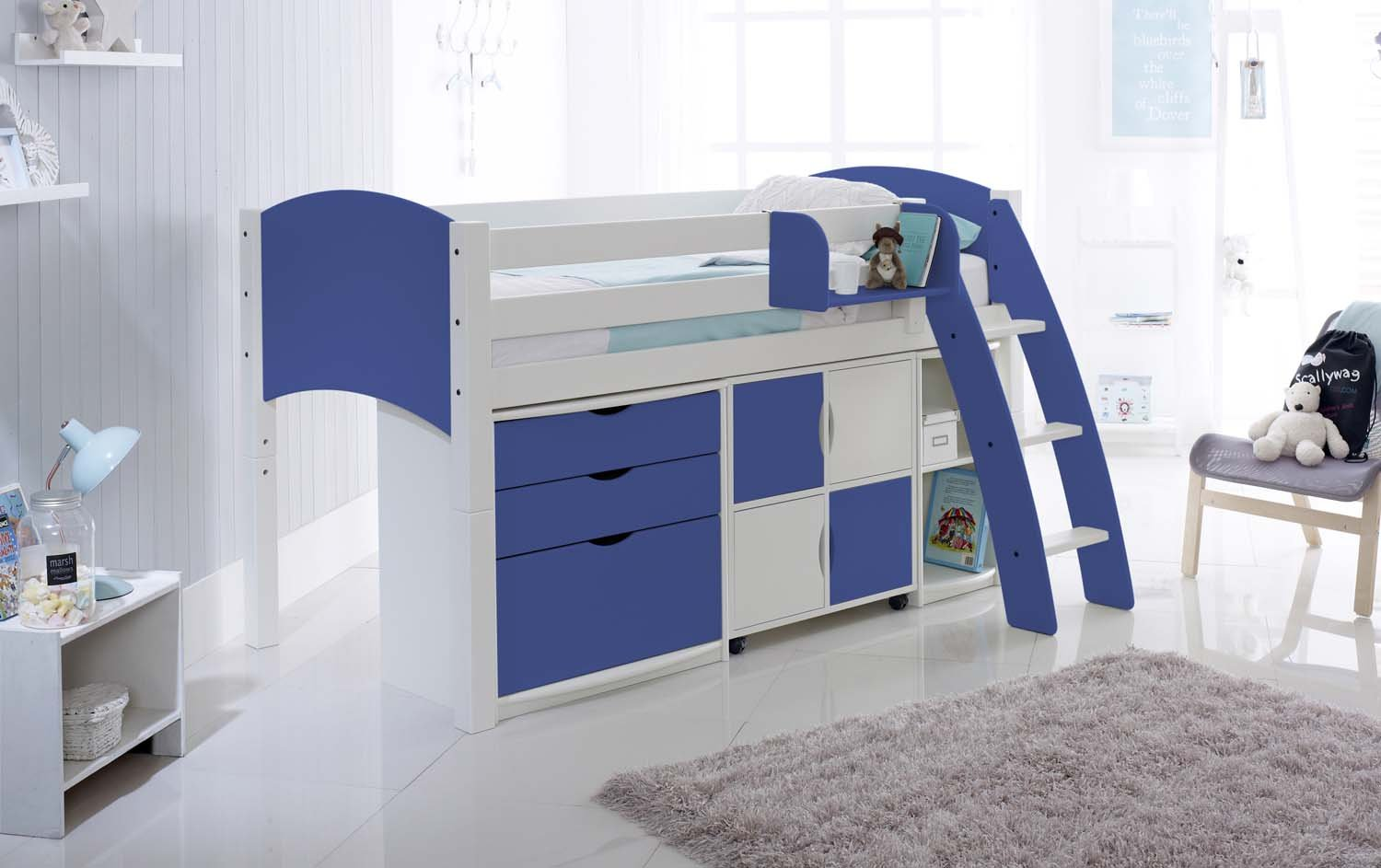 Children 39 s cabin beds short narrow options available for Narrow width bunk beds
