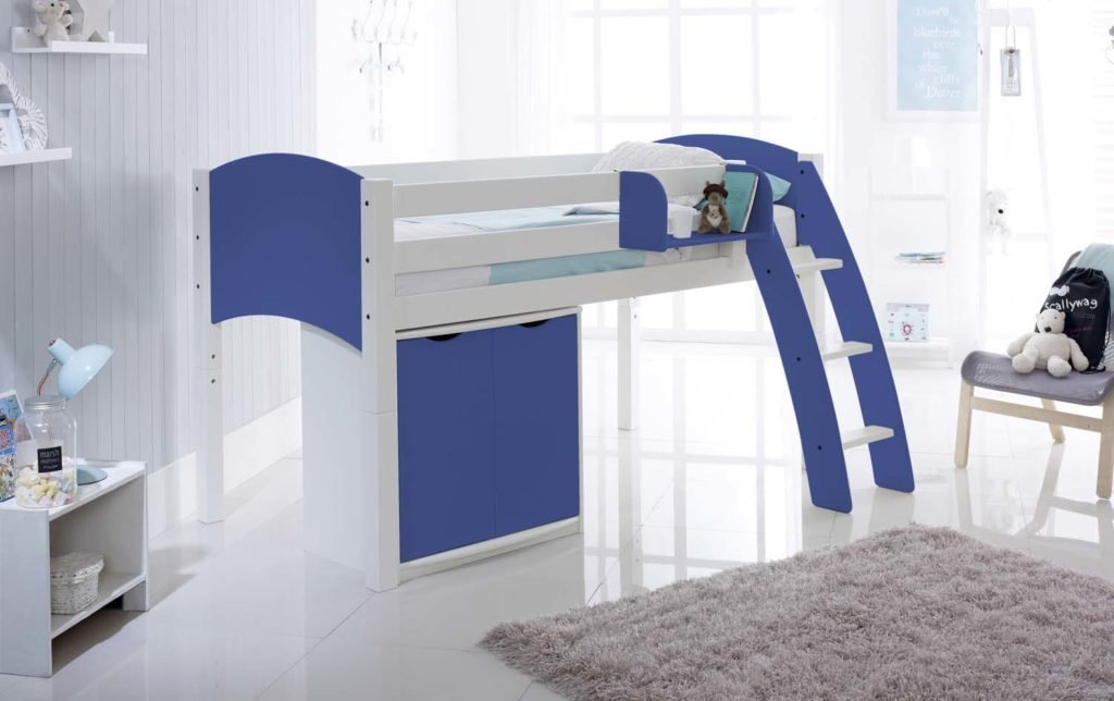 Scallywag Kids Midsleeper Children S Cabin Bed With Cupboard