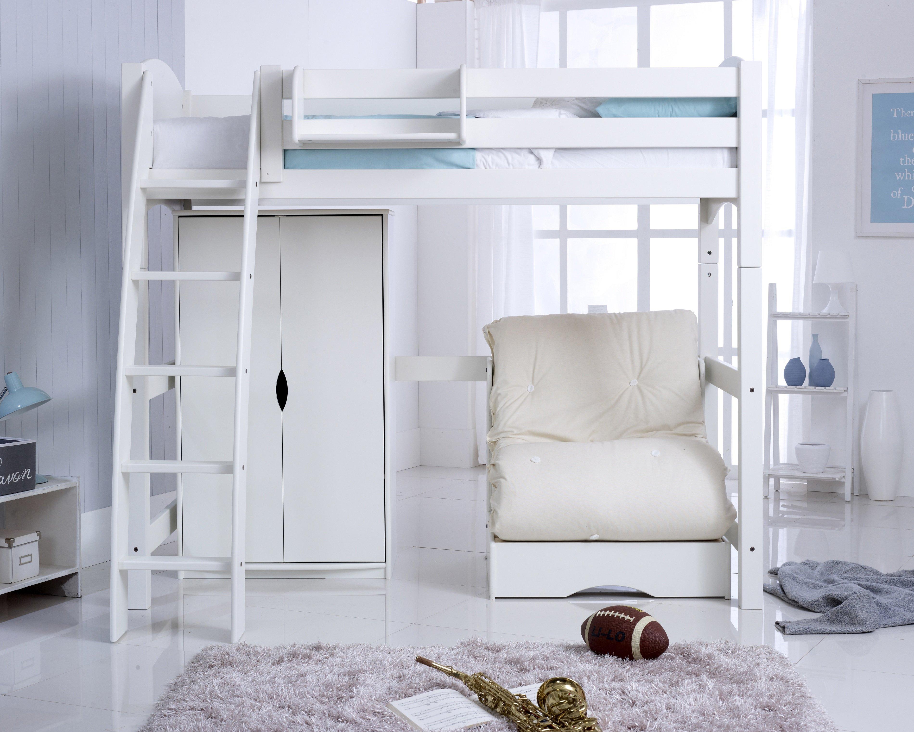Scallywag Convertible High Sleeper Bed Including Wardrobe ...