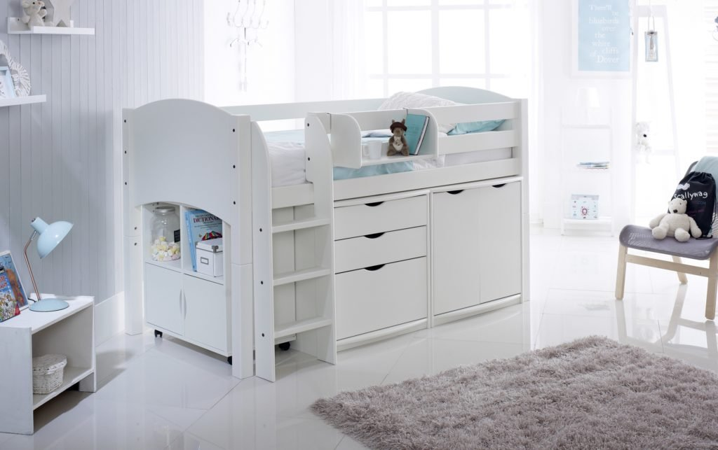 Childrens Animals Storage Box Chest 3 Kids Drawer Bedroom: Scallywag Convertible Cabin Bed With 3 Drawer Chest