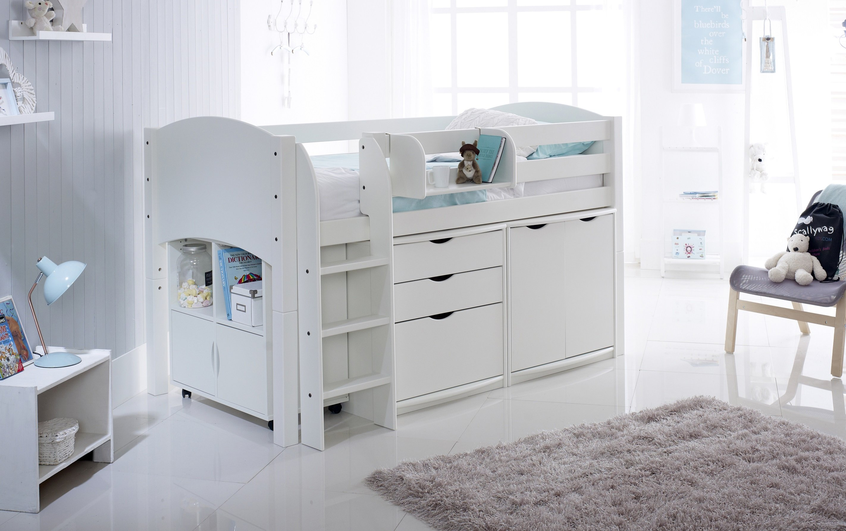 Scallywag Convertible Cabin Bed with 3 Drawer Chest ...