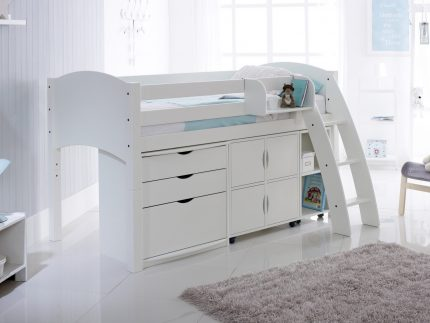 Convertible Cabin Bed Including 3 Drawer Chest, Quad & Duo Storage Units