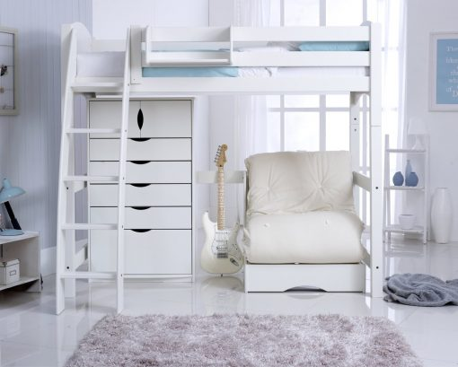 Convertible High Sleeper Bed Including 5 Drawer Chest & Chair Bed