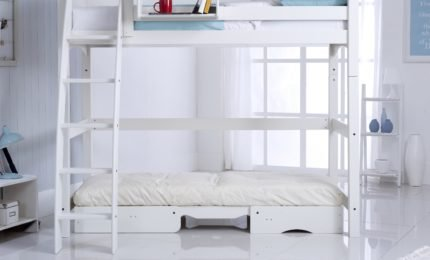 Convertible High Sleeper Bed with Chair Bed (Open Under)