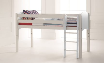 Convertible Cabin Bed with Straight Ladder