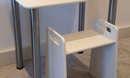 Desk & Stool Combination